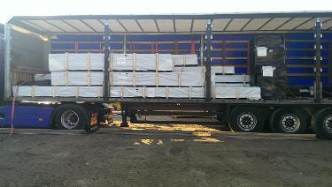 Delivery of Solid Timber Lodges Spain,