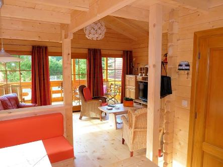 Interior of self build lodges Spain